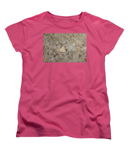 Women's T-Shirt (Standard Cut) featuring the photograph Heart Of Stone by Fortunate Findings Shirley Dickerson