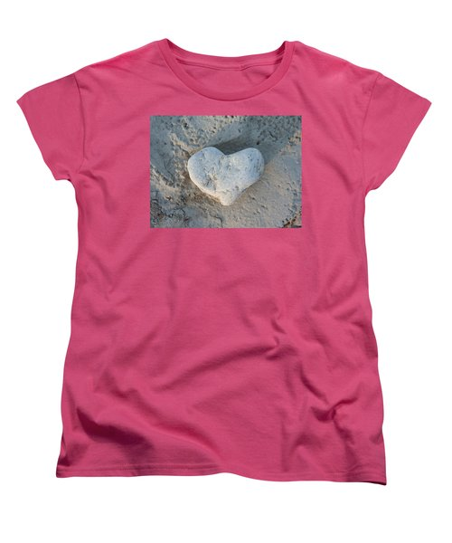 Heart Stone Photography Women's T-Shirt (Standard Cut) by Rachel Stribbling