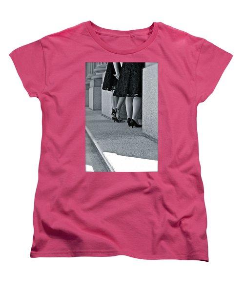 Heels And Lace Women's T-Shirt (Standard Cut) by Linda Bianic