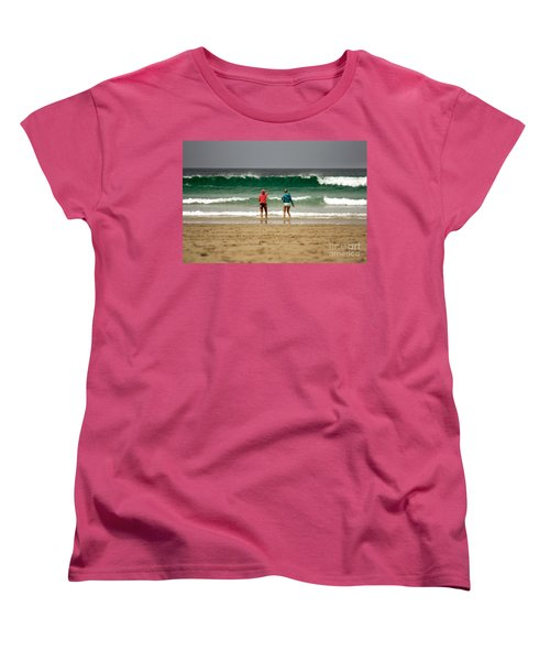 Women's T-Shirt (Standard Cut) featuring the photograph Here Comes The Big One by Terri Waters