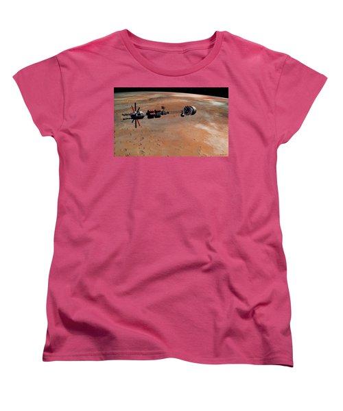 Hermes1 Orbiting Mars Women's T-Shirt (Standard Cut) by David Robinson