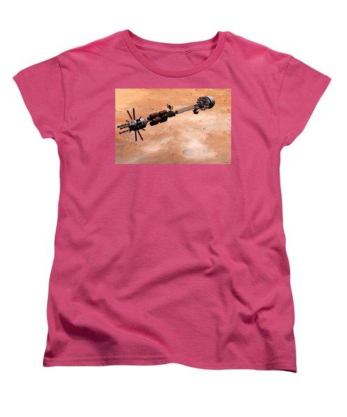 Hermes1 Over Mars Women's T-Shirt (Standard Cut) by David Robinson