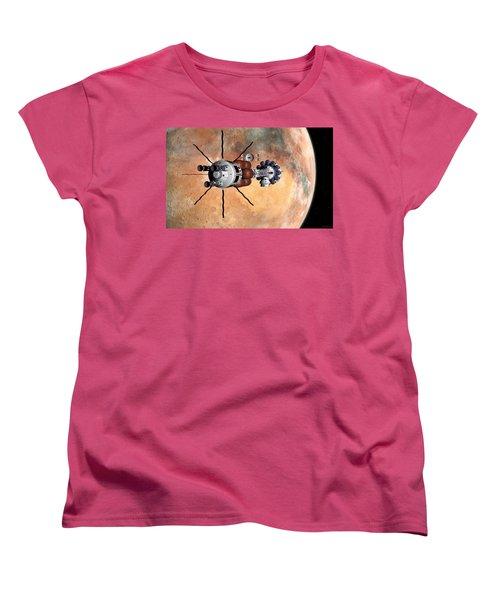 Hermes1 Realign Orbital Path Women's T-Shirt (Standard Cut) by David Robinson