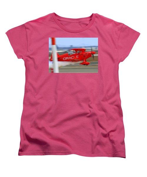 Hi Speed Low Pass By Sean Tucker At Salinas Ksns Air Show Women's T-Shirt (Standard Cut)