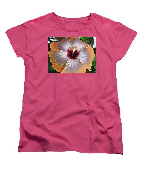 Hibiscus  Women's T-Shirt (Standard Cut) by Jennifer Wheatley Wolf