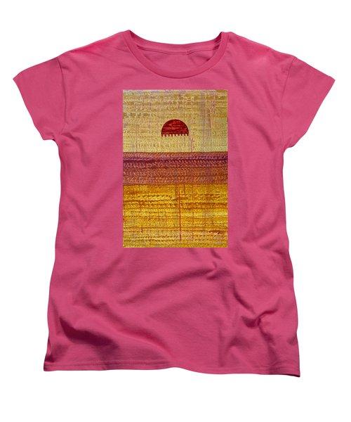 High Desert Horizon Original Painting Women's T-Shirt (Standard Cut) by Sol Luckman