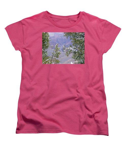 Women's T-Shirt (Standard Cut) featuring the photograph Highlighting Snow by Roberta Byram