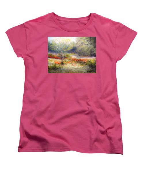 Hill Country Wildflowers Women's T-Shirt (Standard Cut) by Patti Gordon