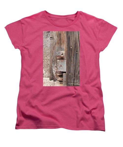 Women's T-Shirt (Standard Cut) featuring the photograph Hinge 1 by Minnie Lippiatt