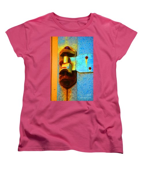 Women's T-Shirt (Standard Cut) featuring the photograph Hinged  by Christiane Hellner-OBrien