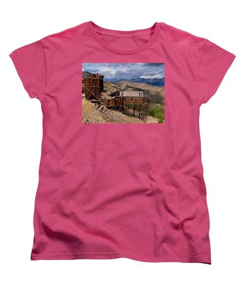 Holding On Women's T-Shirt (Standard Cut) by Leland D Howard