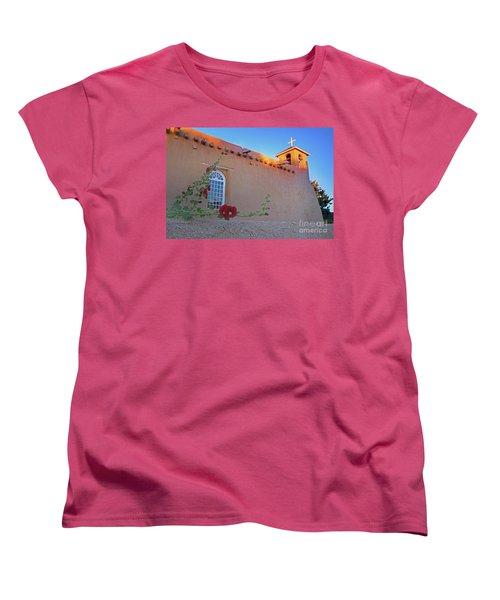 Hollyhocks On Adobe Women's T-Shirt (Standard Cut) by Gary Holmes