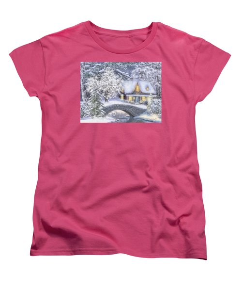 Home For The Holidays Women's T-Shirt (Standard Cut) by Mo T