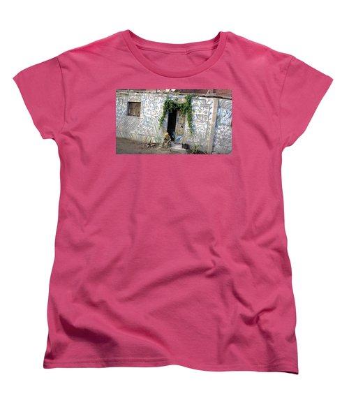 Women's T-Shirt (Standard Cut) featuring the photograph Home In Ciro Egypt by Jennifer Wheatley Wolf
