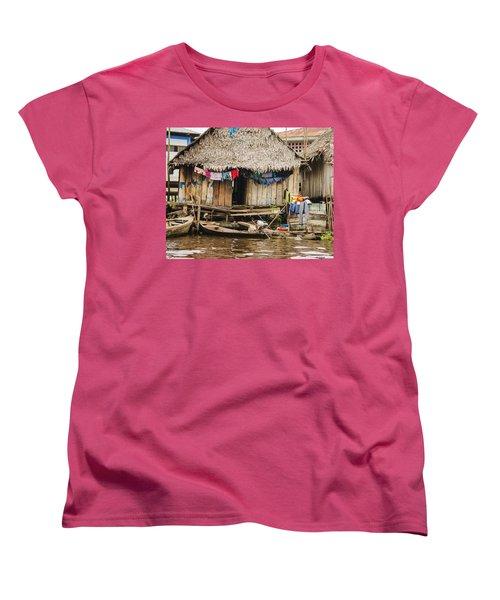 Home In Shanty Town Women's T-Shirt (Standard Cut) by Allen Sheffield