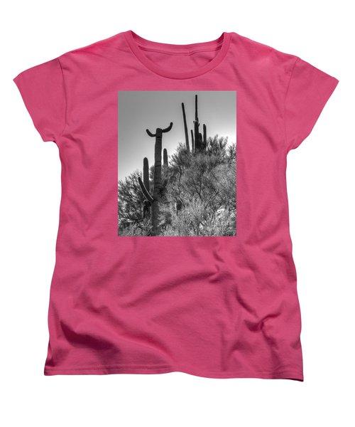 Horn Saguaro Cactus Women's T-Shirt (Standard Cut)
