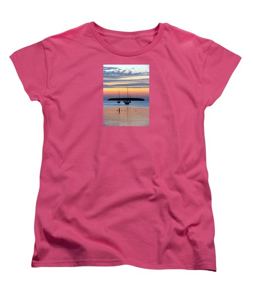 Horsehoe Island Sunset Women's T-Shirt (Standard Cut) by David T Wilkinson
