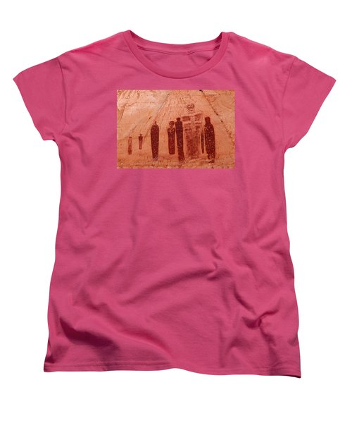 Horseshoe Canyon Pictographs Women's T-Shirt (Standard Cut) by Alan Vance Ley