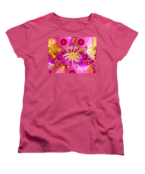 Women's T-Shirt (Standard Cut) featuring the photograph Hot Orchid by Sylvia Thornton