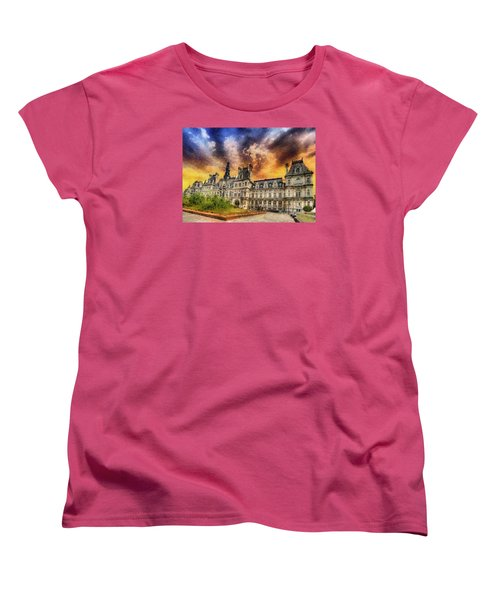 Women's T-Shirt (Standard Cut) featuring the photograph Sunset At The Hotel De Ville by Charmaine Zoe