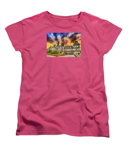 Sunset At The Hotel De Ville Women's T-Shirt (Standard Cut) by Charmaine Zoe
