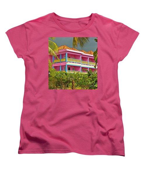 Hotel Jamaica Women's T-Shirt (Standard Cut) by Linda Bianic