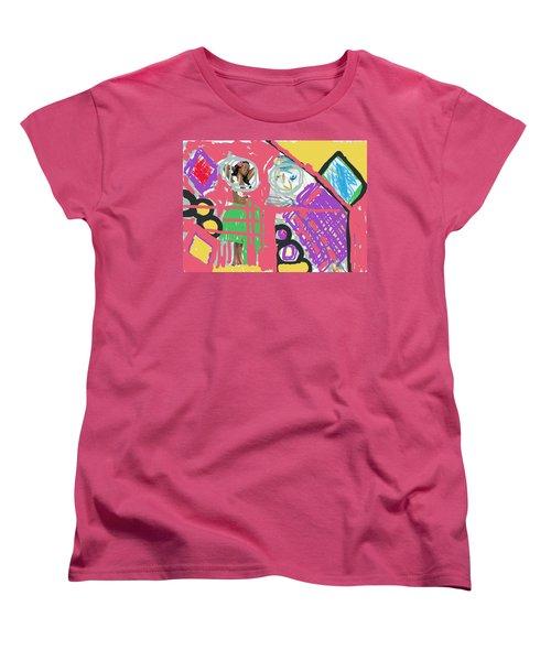 Hula Girl Under Paint Women's T-Shirt (Standard Cut) by Susan Stone