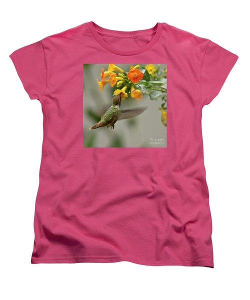 Hummingbird Sips Nectar Women's T-Shirt (Standard Cut) by Heiko Koehrer-Wagner