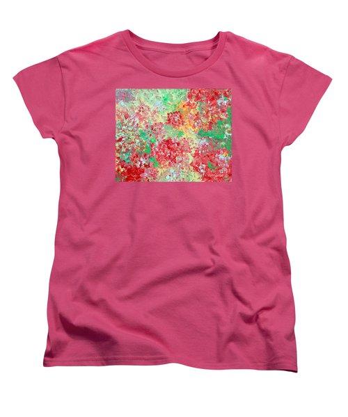 Women's T-Shirt (Standard Cut) featuring the painting Hydrangeas II by Alys Caviness-Gober