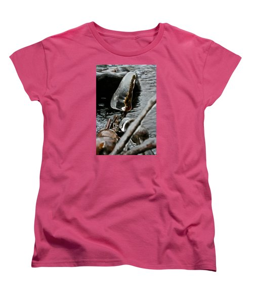 Women's T-Shirt (Standard Cut) featuring the photograph ICE by Joel Loftus