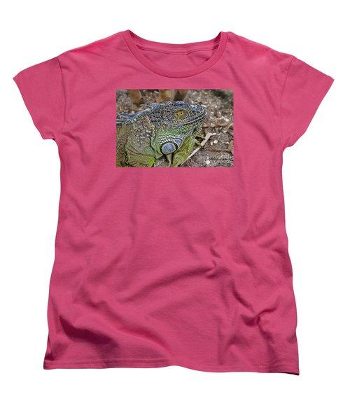 Women's T-Shirt (Standard Cut) featuring the photograph Iguana by Olga Hamilton