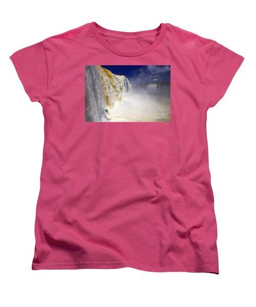 Iguazu Falls I Women's T-Shirt (Standard Cut) by Bernardo Galmarini