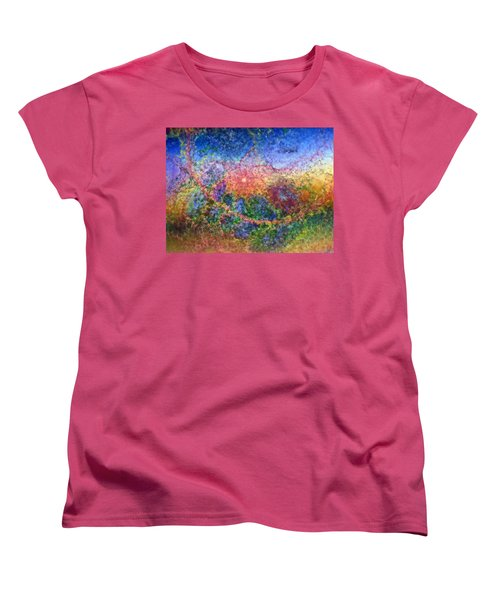 Women's T-Shirt (Standard Cut) featuring the digital art Impressionist Dreams 1 by Casey Kotas