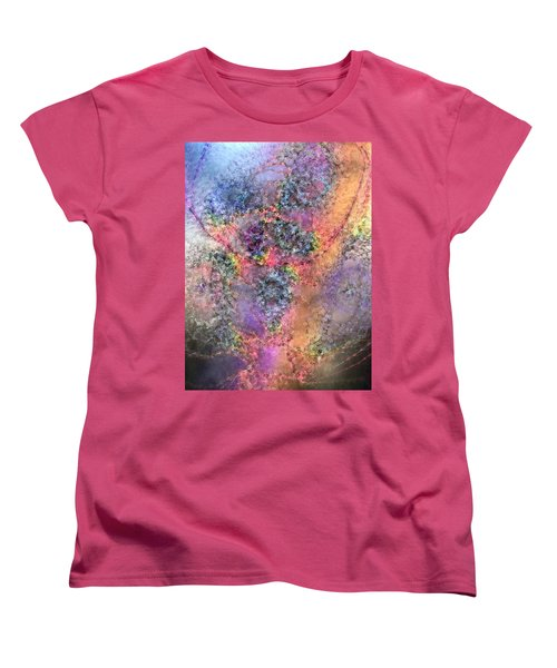Women's T-Shirt (Standard Cut) featuring the digital art Impressionist Dreams 2 by Casey Kotas