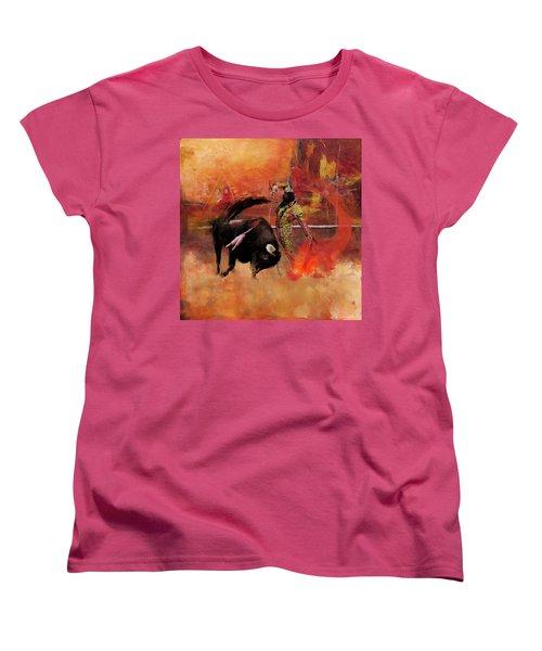 Impressionistic Bullfighting Women's T-Shirt (Standard Cut) by Corporate Art Task Force