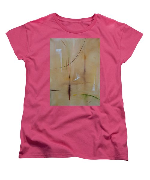 Women's T-Shirt (Standard Cut) featuring the painting In Pursuit Of Youth by Judith Rhue