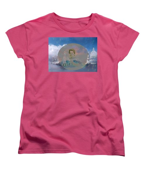 Women's T-Shirt (Standard Cut) featuring the digital art In The Air by Cathy Anderson