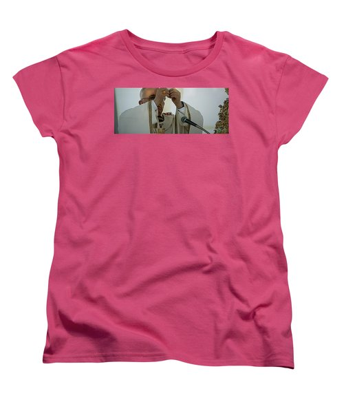 Inauguration Pope Francis Vatican  Rom 19 February 2013  Women's T-Shirt (Standard Cut) by Colette V Hera  Guggenheim