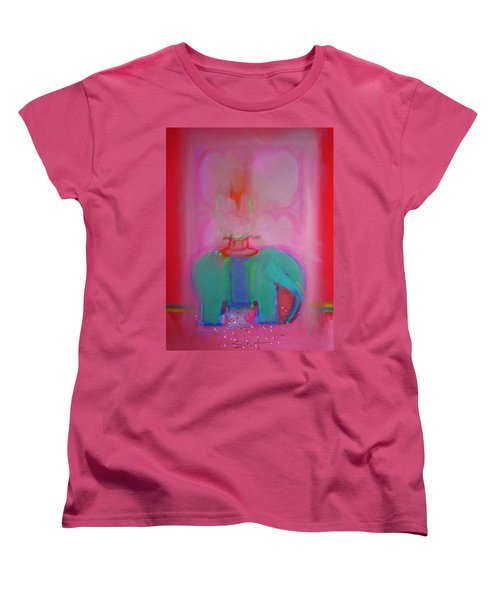 Indian Elephant Women's T-Shirt (Standard Cut) by Charles Stuart