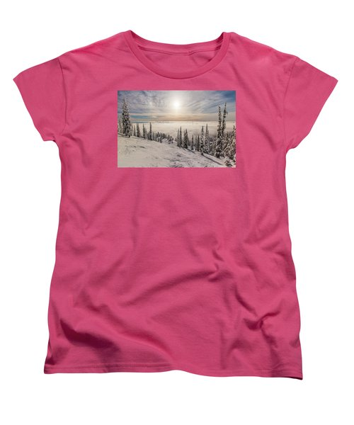 Inversion Sunset Women's T-Shirt (Standard Cut) by Aaron Aldrich