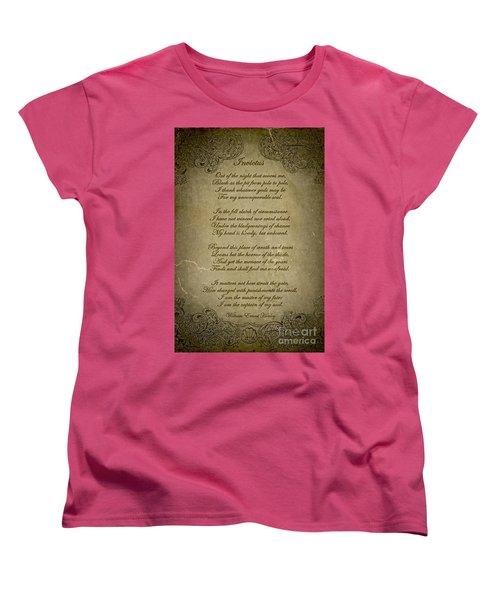 Invictus By William Ernest Henley Women's T-Shirt (Standard Cut) by Olga Hamilton