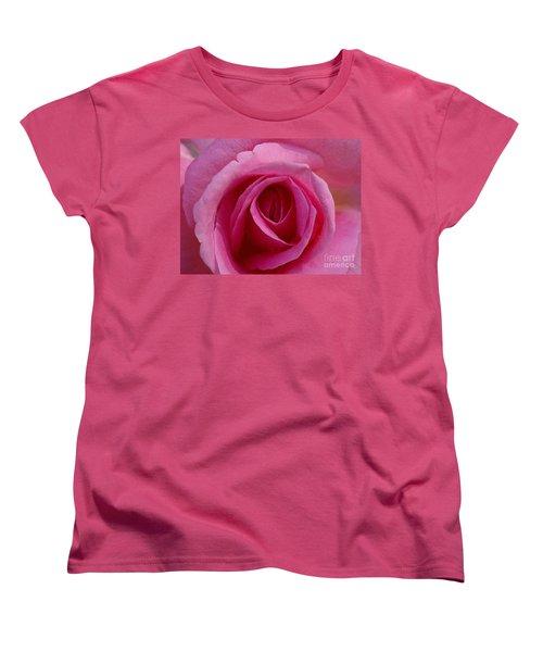 Inviting Pink Women's T-Shirt (Standard Cut) by Paul  Wilford