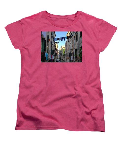 Italian Clotheslines Women's T-Shirt (Standard Cut) by Natalie Ortiz