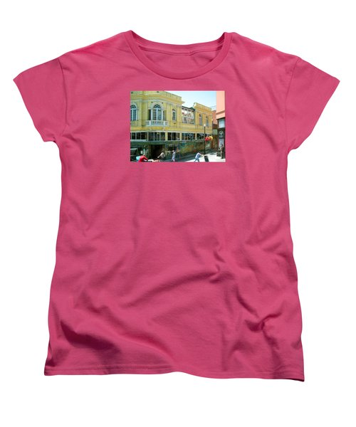 Women's T-Shirt (Standard Cut) featuring the photograph Italian Town In San Francisco by Connie Fox