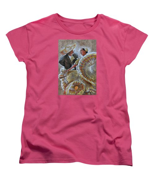 Jarabe Tapatio Dance Women's T-Shirt (Standard Cut) by J- J- Espinoza