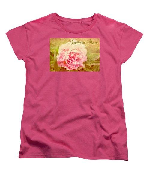 Jardin De Fleurs Women's T-Shirt (Standard Cut) by Trina  Ansel
