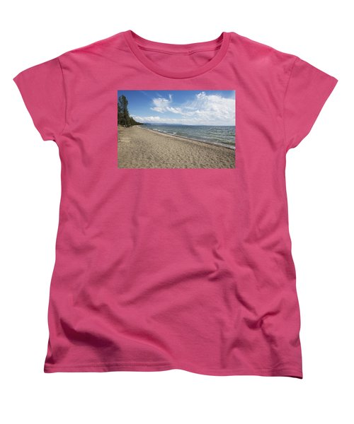 Yellowstone Lake Women's T-Shirt (Standard Cut) by Belinda Greb