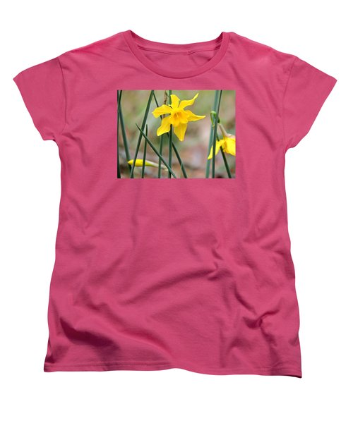 Women's T-Shirt (Standard Cut) featuring the photograph Johnny-jump-up by Kim Pate