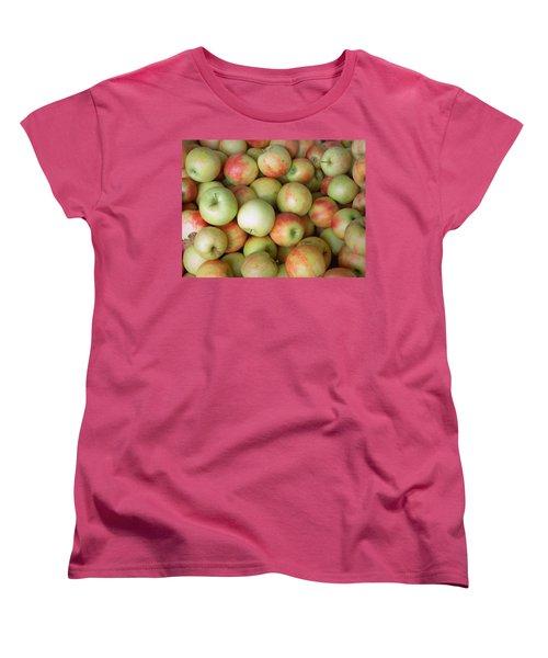 Women's T-Shirt (Standard Cut) featuring the photograph Jonagold Apples by Joseph Skompski