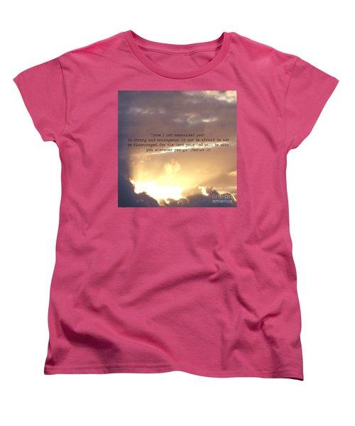 Joshua 1 Women's T-Shirt (Standard Cut) by Andrea Anderegg